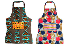 African Fabric Apron - Adult