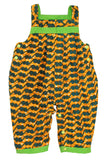 GREEN CONTRAST- Yellow Aqua Waves / 3M-6M