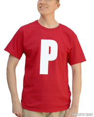 P on a shirt. Heh.