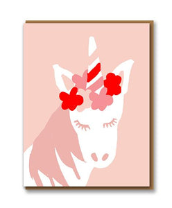 Pink unicorn card by 1973