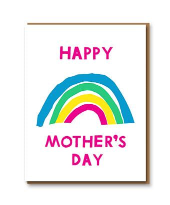 Letterpress Happy Mother's Day card with rainbow by 1973