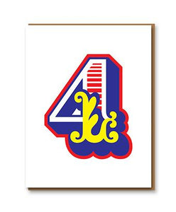 Number 4 letterpress card by 1973