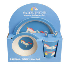 Load image into Gallery viewer, Rex Magical Unicorn Bamboo Tablewear Set