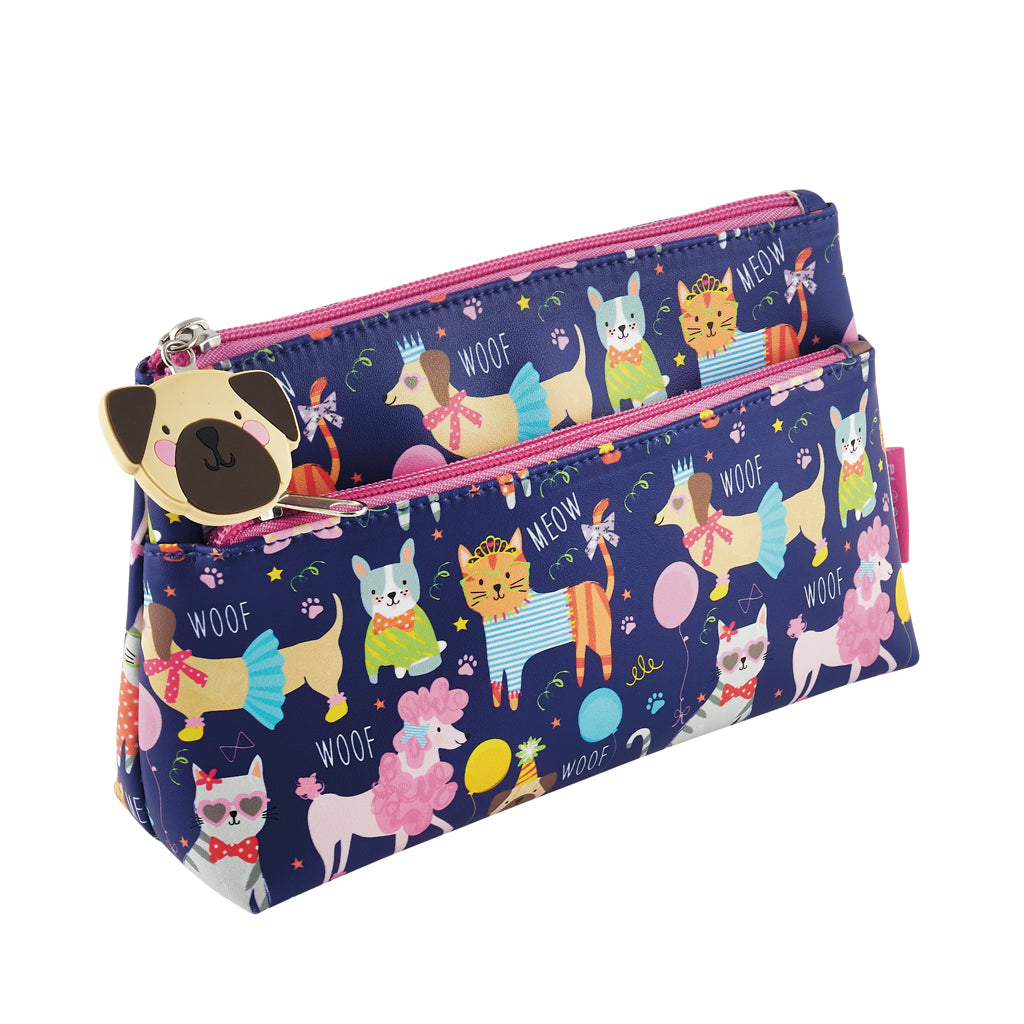Floss & Rock utility washbag / giant pencil case in pets design