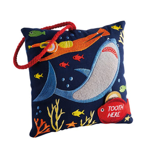 Floss & Rock tooth fairy cushion in deep sea design