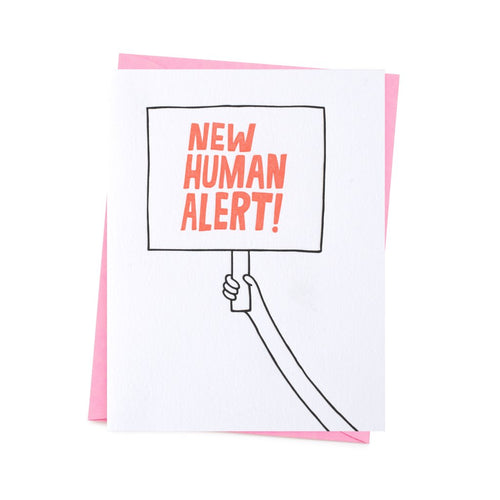 New Human Alert! greeting card by 1973
