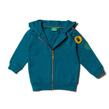 Load image into Gallery viewer, Little Green Radicals Teal Explorer Badge Hoodie in Sale