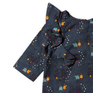 Little Green Radicals Falling Water Top in Star Gazer Print in Sale