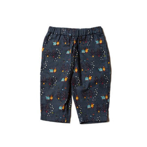 Little Green Radicals Trousers in Star Gazer Print Made from 100% Organic Cotton