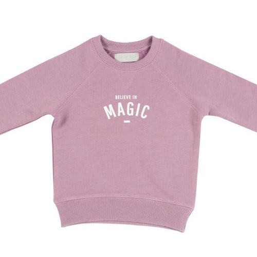 bob & blossom believe in magic violet sweatshirt