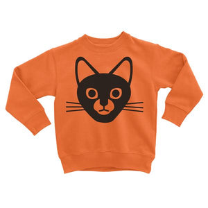 Lella Kids Orange Cat Sweatshirt