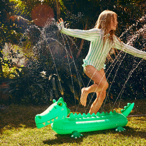 Sunnylife Inflatable Croc Sprinkler