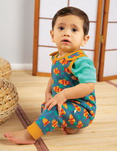 Load image into Gallery viewer, Frugi koi joy fish print dungarees in 100% organic cotton