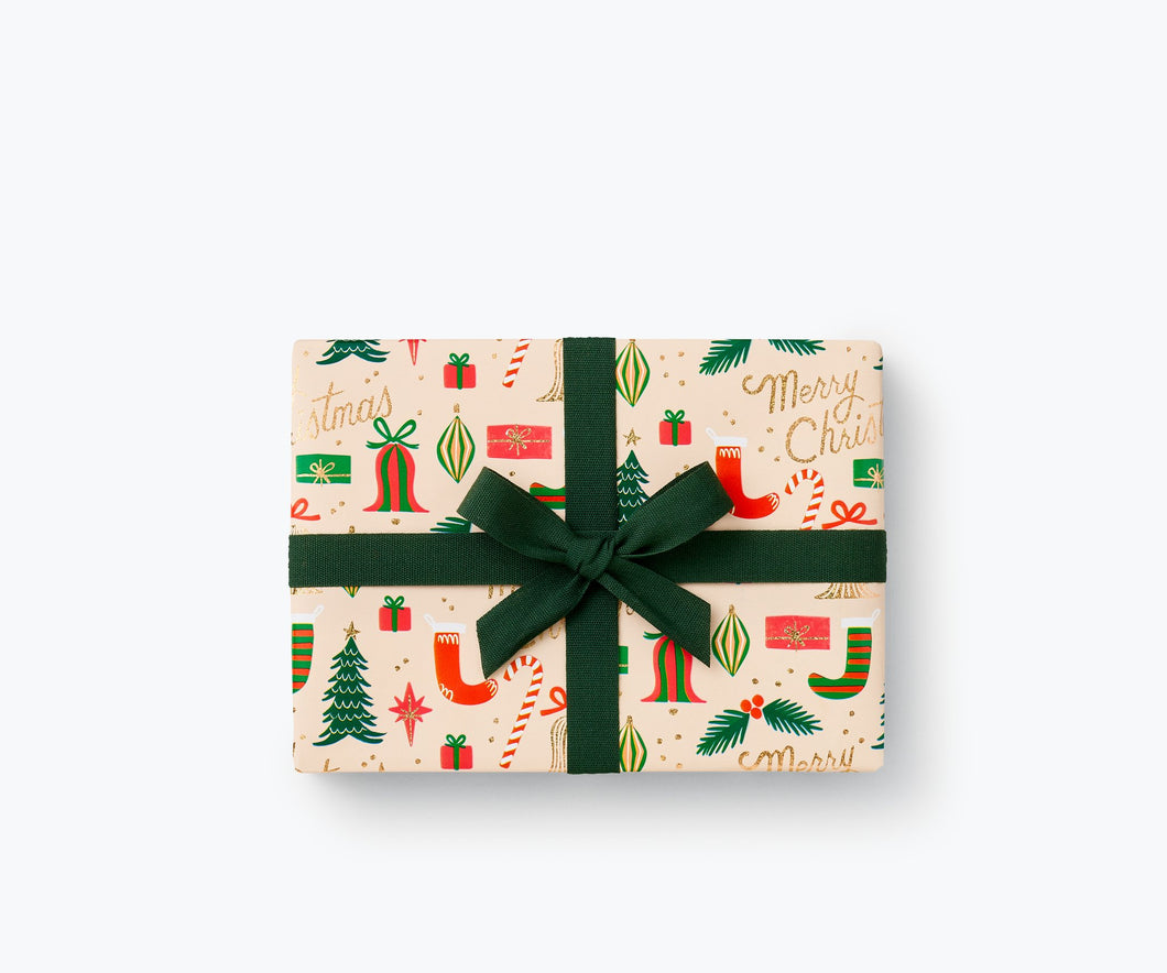 Deck The Halls Continuous Roll Wrap
