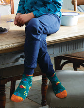 Load image into Gallery viewer, frugi navy cuffed legging