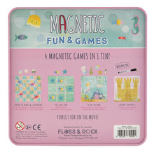 Load image into Gallery viewer, floss & rock mermaid themed magnetic games compendium