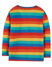 Load image into Gallery viewer, frugi favourite rainbow long sleeved tee