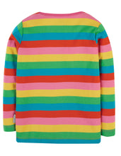 Load image into Gallery viewer, frugi foxglove rainbow stripe ls top