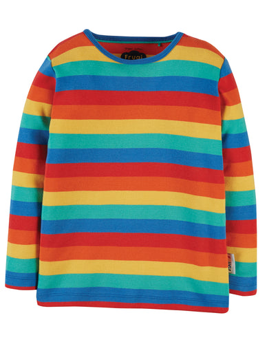 frugi favourite rainbow long sleeved tee