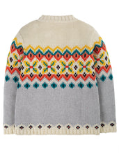 Load image into Gallery viewer, frugi flossie cardi in tin roof fairisle
