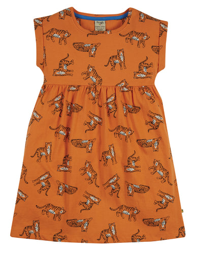 frugi fran marigold tiger jersey dress