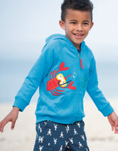 Load image into Gallery viewer, Frugi Blue Lobster Hoodie