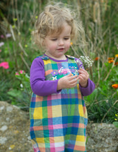 Load image into Gallery viewer, frugi cleo check dungarees