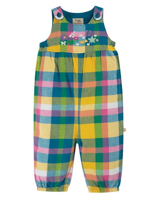 frugi cleo check dungarees