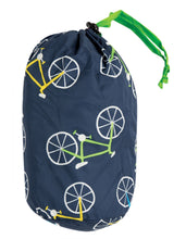 Load image into Gallery viewer, frugi quilted jacket in indigo bicycle print