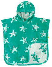 Load image into Gallery viewer, Frugi Aqua Starfish Hooded Towel