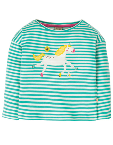 frugi striped long sleeved unicorn top