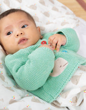 Load image into Gallery viewer, Frugi Mint Green Baby Cardi