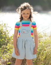 Load image into Gallery viewer, frugi rainbow stripe short sleeved tee