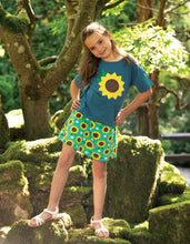 Load image into Gallery viewer, frugi blue sunflower tee
