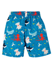 Load image into Gallery viewer, frugi shark print swim shorts