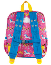 Load image into Gallery viewer, Frugi Pink Unicorn Print Backpack