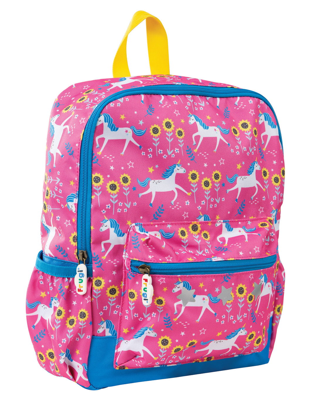 Frugi Pink Unicorn Print Backpack