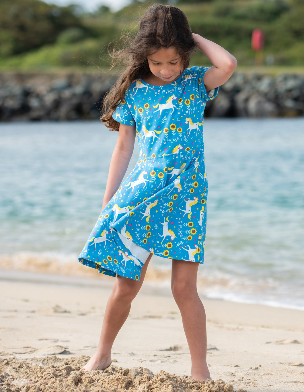 Frugi Unicorn Print Skater Dress