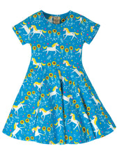 Load image into Gallery viewer, Frugi Unicorn Print Skater Dress