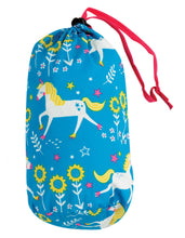 Load image into Gallery viewer, frugi quilted jacket in blue unicorn print