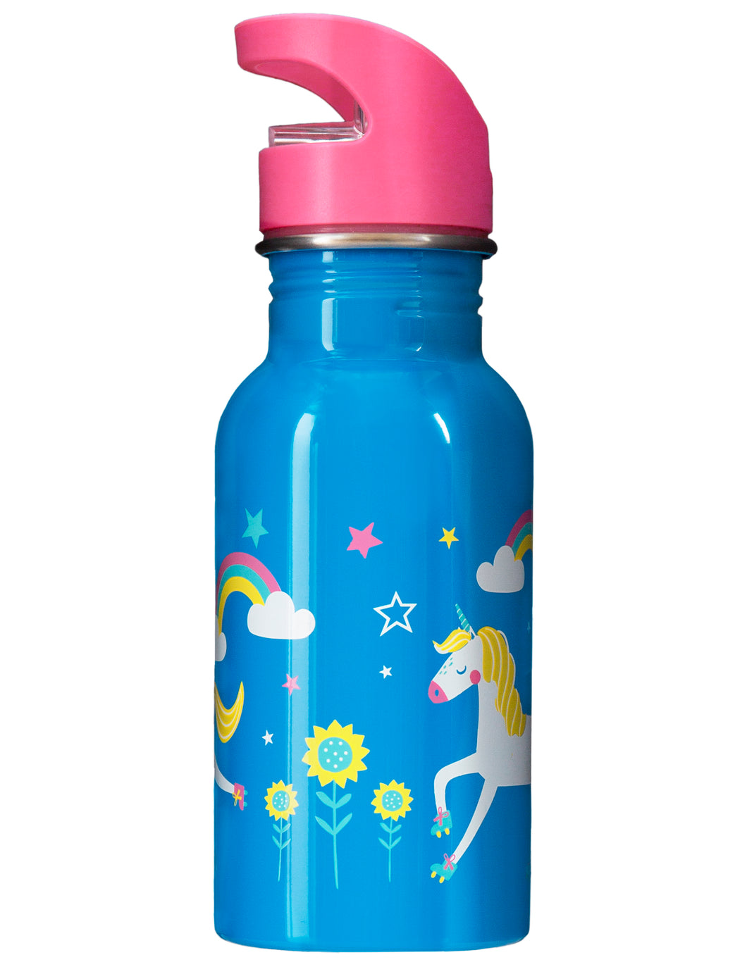 frugi unicorn print steel bottle