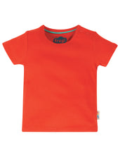Load image into Gallery viewer, frugi basic t shirt in koi red