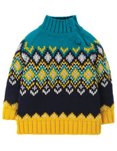 Load image into Gallery viewer, frugi fyfe jumper in bumble bee fairisle