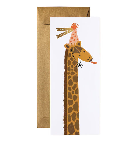 Party giraffe birthday card by Rifle Card Co.