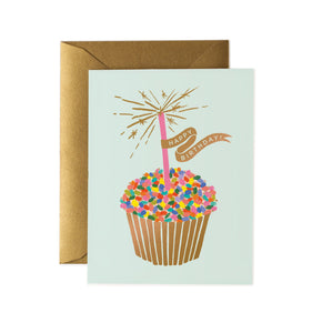 Birthday cupcake card by Rifle Card Co.