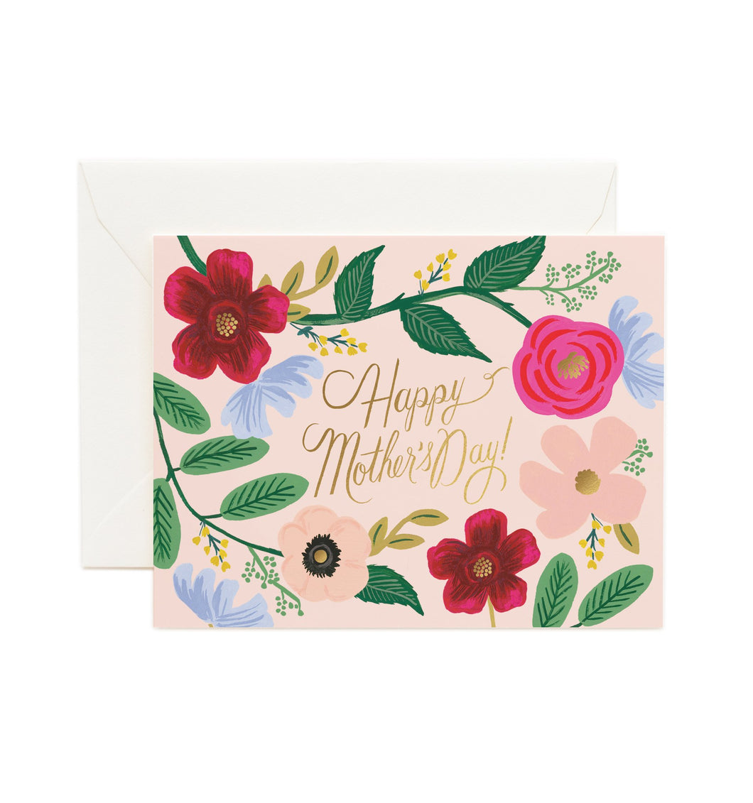 Wildflower mother's day card by Rifle Card Co.