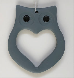 Mama Knows Owl Teethers in Grey