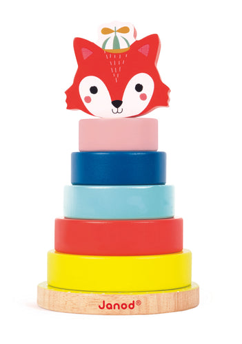 Janod Wooden Forest Fox Stacker
