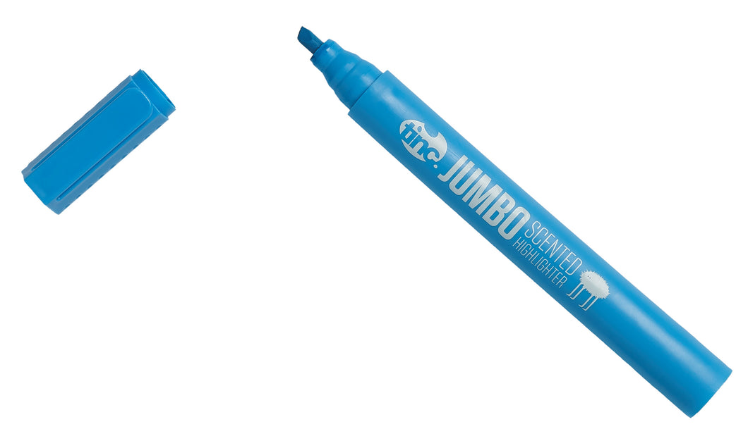 Tinc jumbo scented highlighter pen in blue