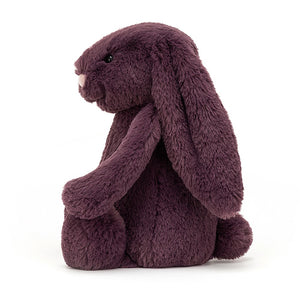 Jellycat Bashful Plum Bunny Medium Side View
